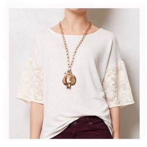 Anthropologie Dolan Embroidered Sleeves Sweatshirt
